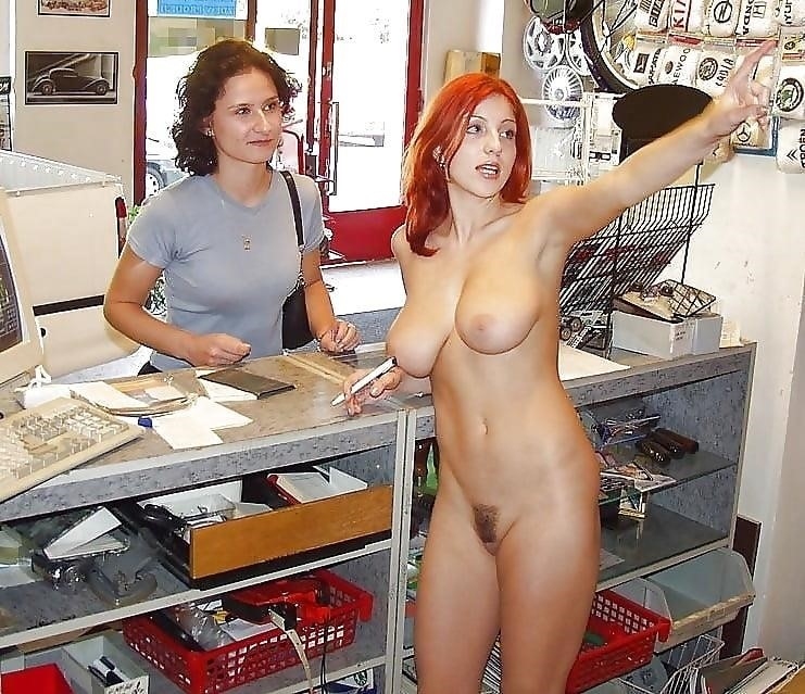 Busty public nudity-6372