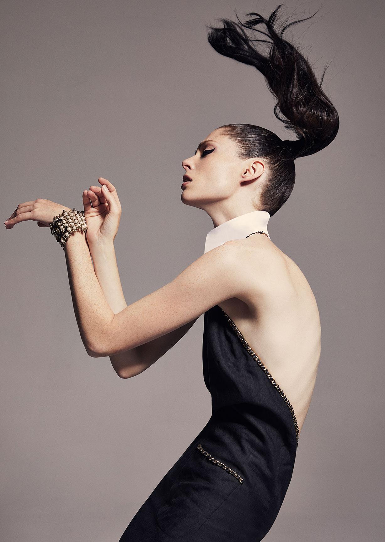 модное дефиле на крыше, модель Коко Роша / фото 08