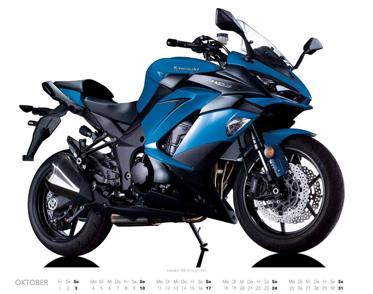 Календарь с крутыми мотоциклами на 2021 год / октябрь