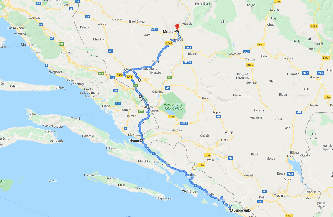 Dubrovnik to Mostar