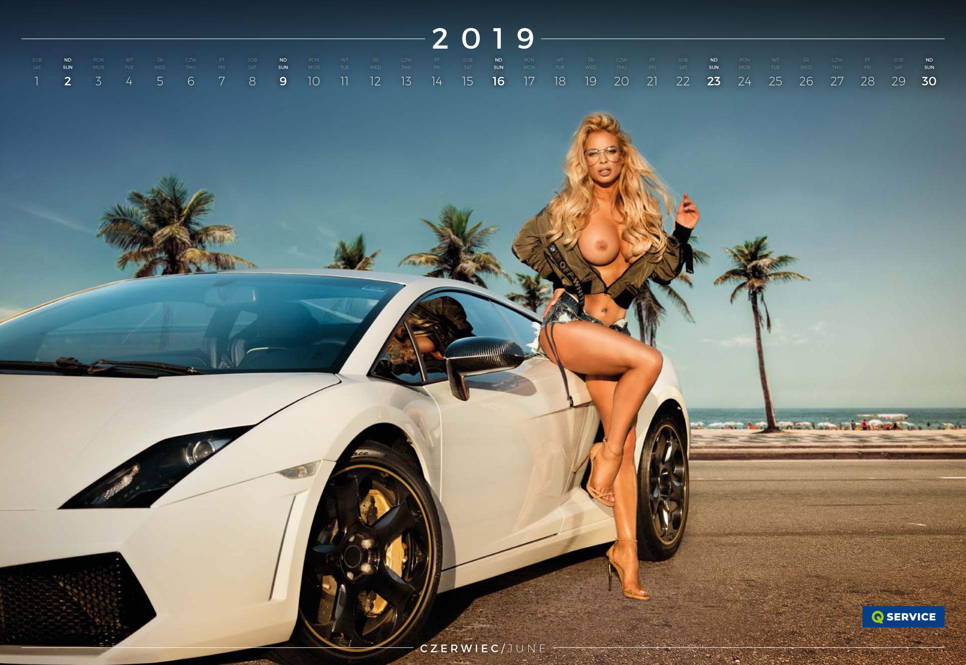 июнь - эротический календарь 2019 Inter Cars SA / польский дистрибьютор автомобилей, сопутствующих товаров и запчастей