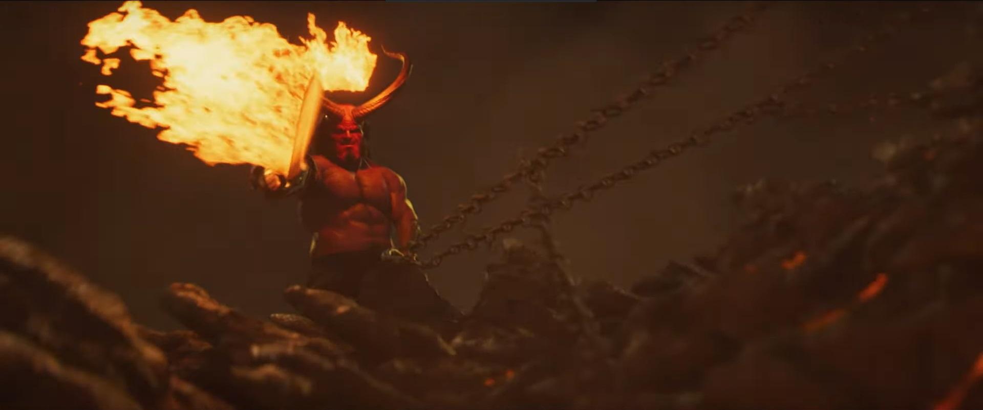 David Harbour como Hellboy en su segundo tráiler
