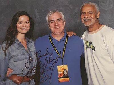 Randy with Summer Glau and Ron Glass at Ohio Comic Con 2013