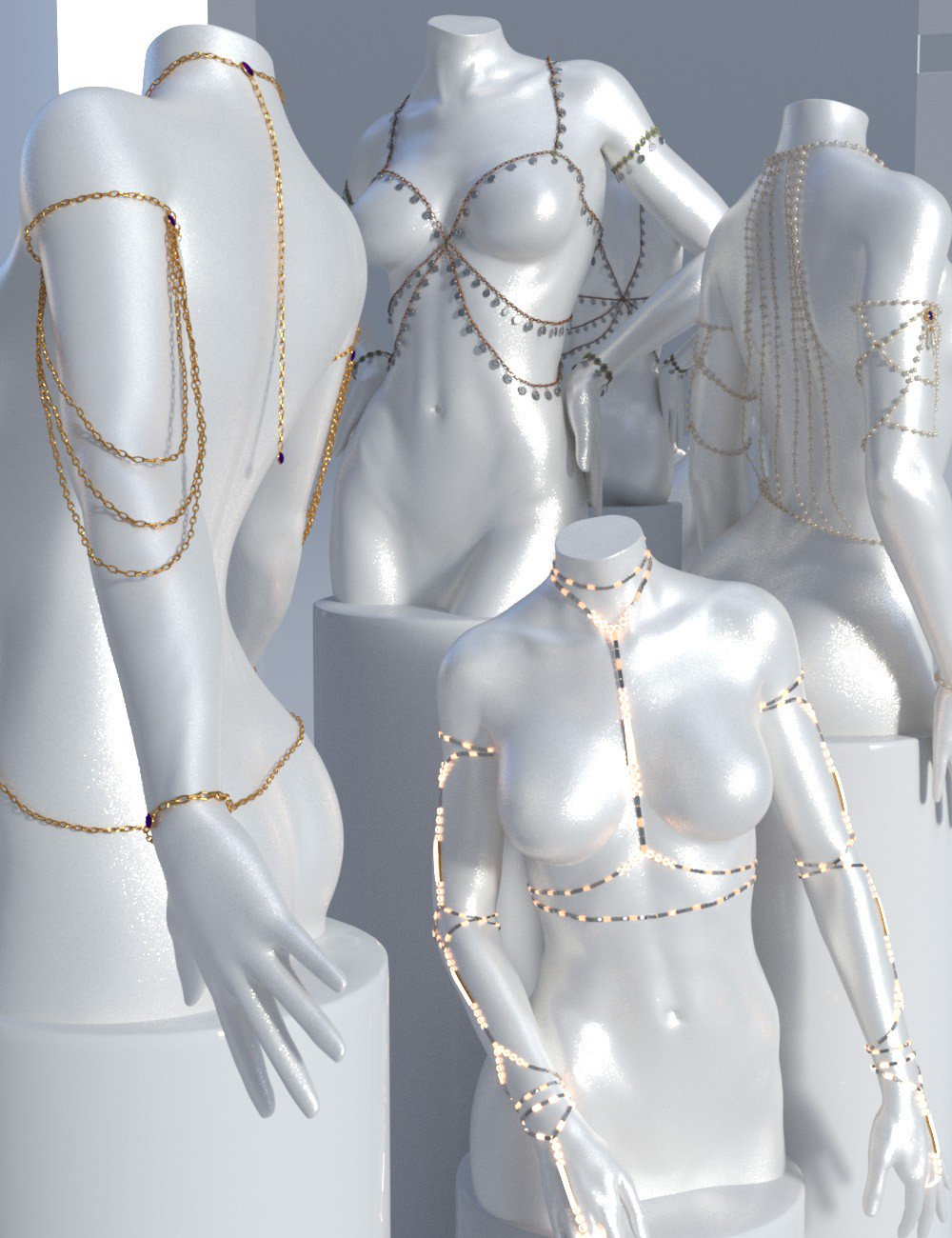 Body Chains 2 for Genesis 3 and 8