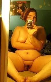 Naked fat girl selfies-7830