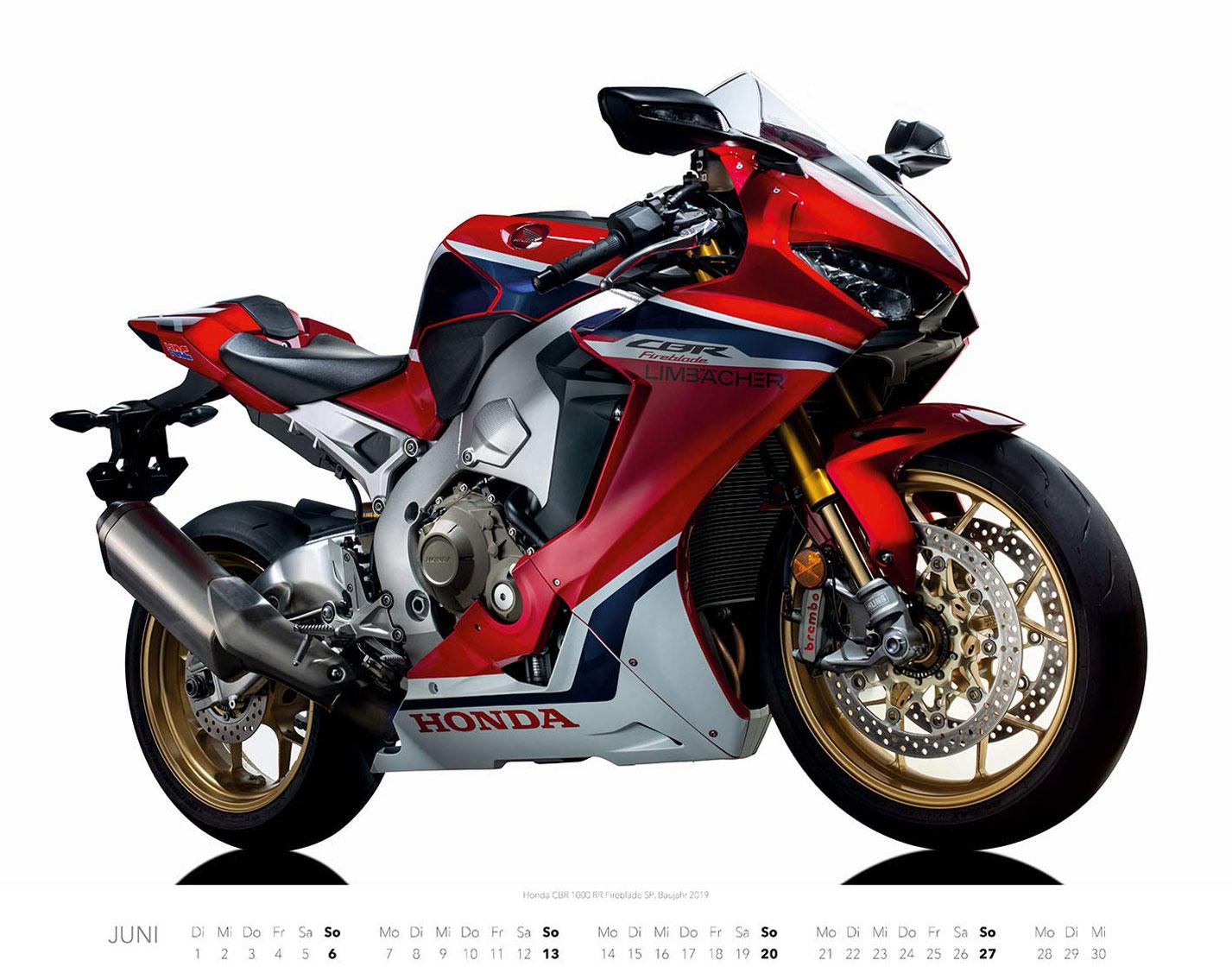 Календарь с крутыми мотоциклами на 2021 год / июнь