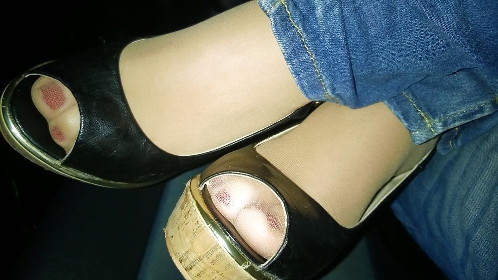 Lesbian foot fetish nylon-6679