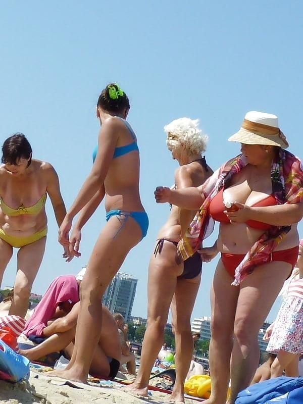 Nude big boobs on beach-5316