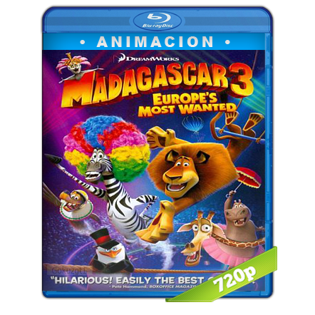 Madagascar 3 (2012) BRRip 720p Audio Trial Latino-Castellano-Ingles 5.1