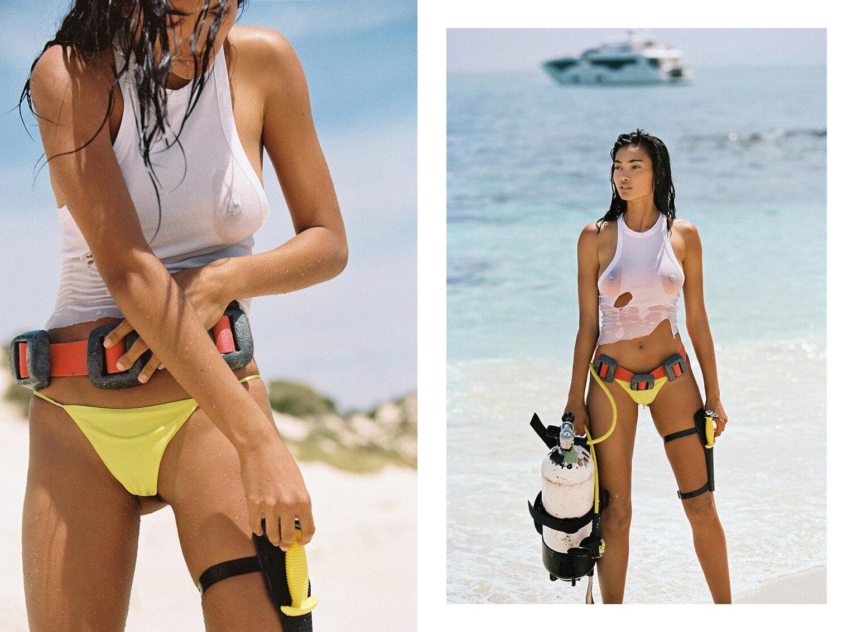 Келли Гейл в купальниках модного бренда Bamba Swimwear, лето 2020 / фото 07