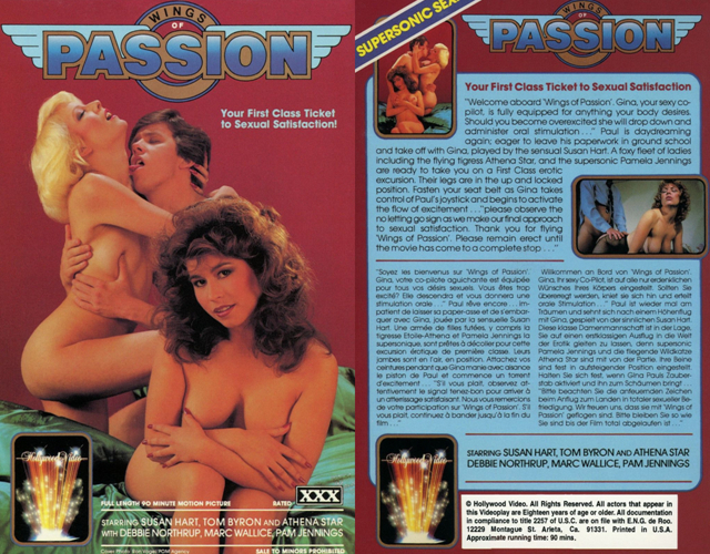 Wings Of Passion / На крыльях страсти (Jack Genero, Filmco Releasing) [1984 г., Classic, Feature, Oral, Anal, Facial, VHSRip] (Susan Hart, Athena Star, Debbie Northrup, Pamela Jennings, Tom Byron, Marc Wallice)