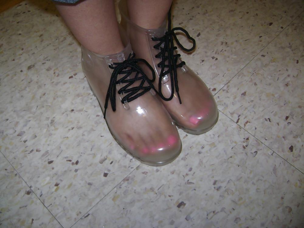 Black sperry rain boots-9172