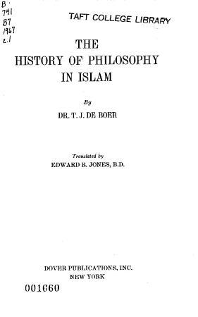 De Boer - The History Of Philosophy In Islam