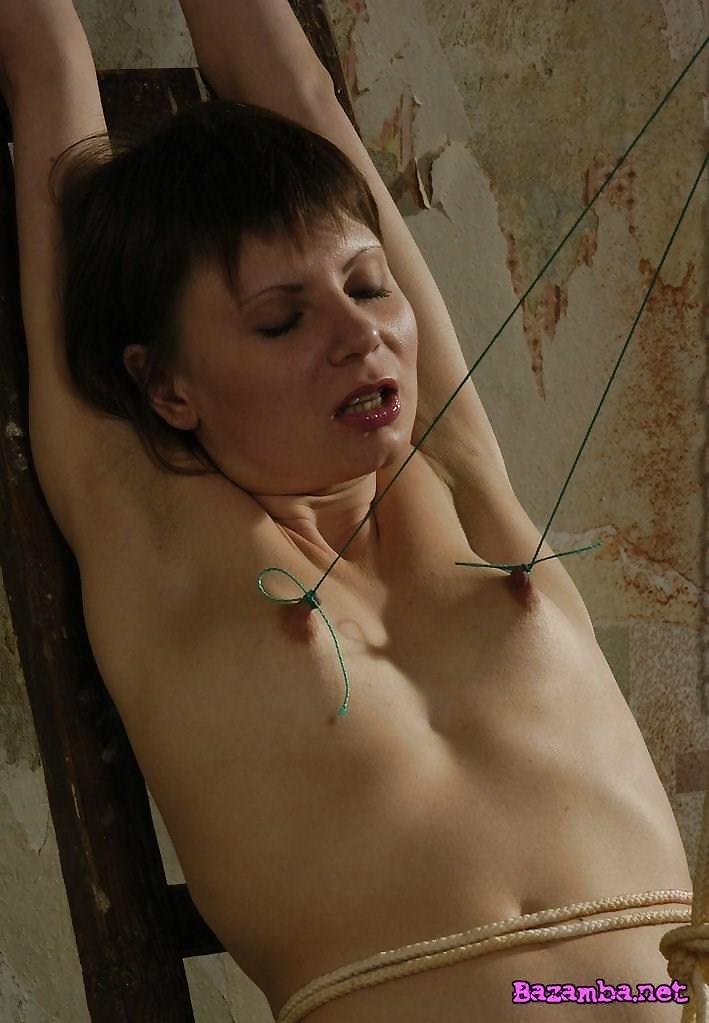 Breast bondage and torture-3785