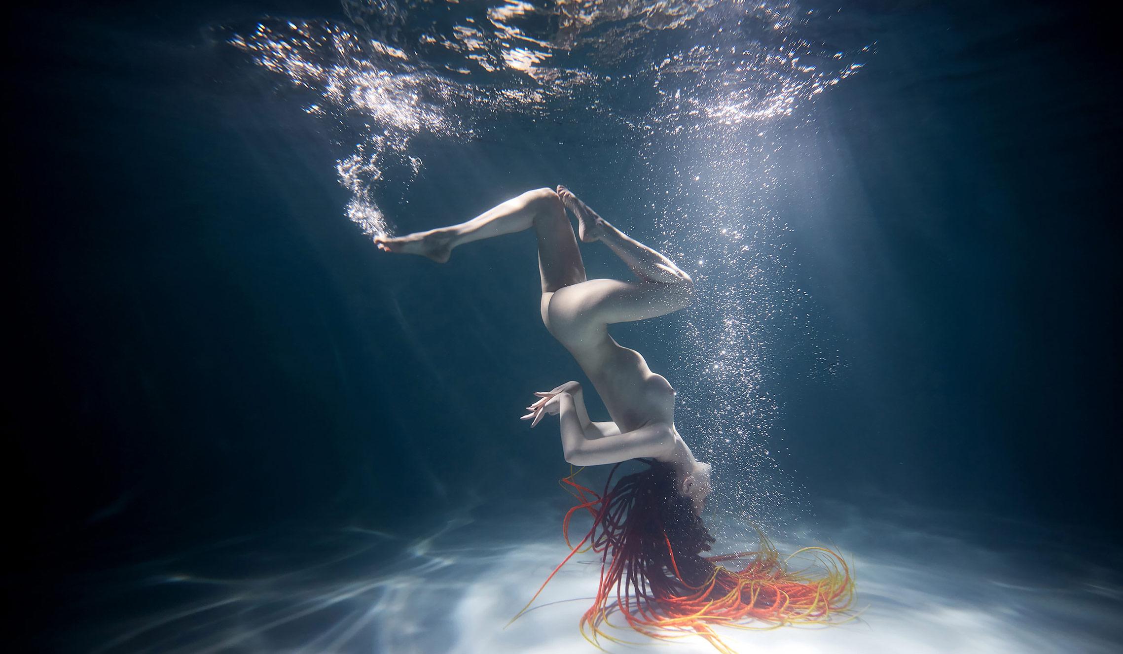 подводная акробатика - Ольга Горлачук / Olga Gorlachuk nude by Slava Grebenkin