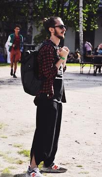 Хипстер с рюкзачком
