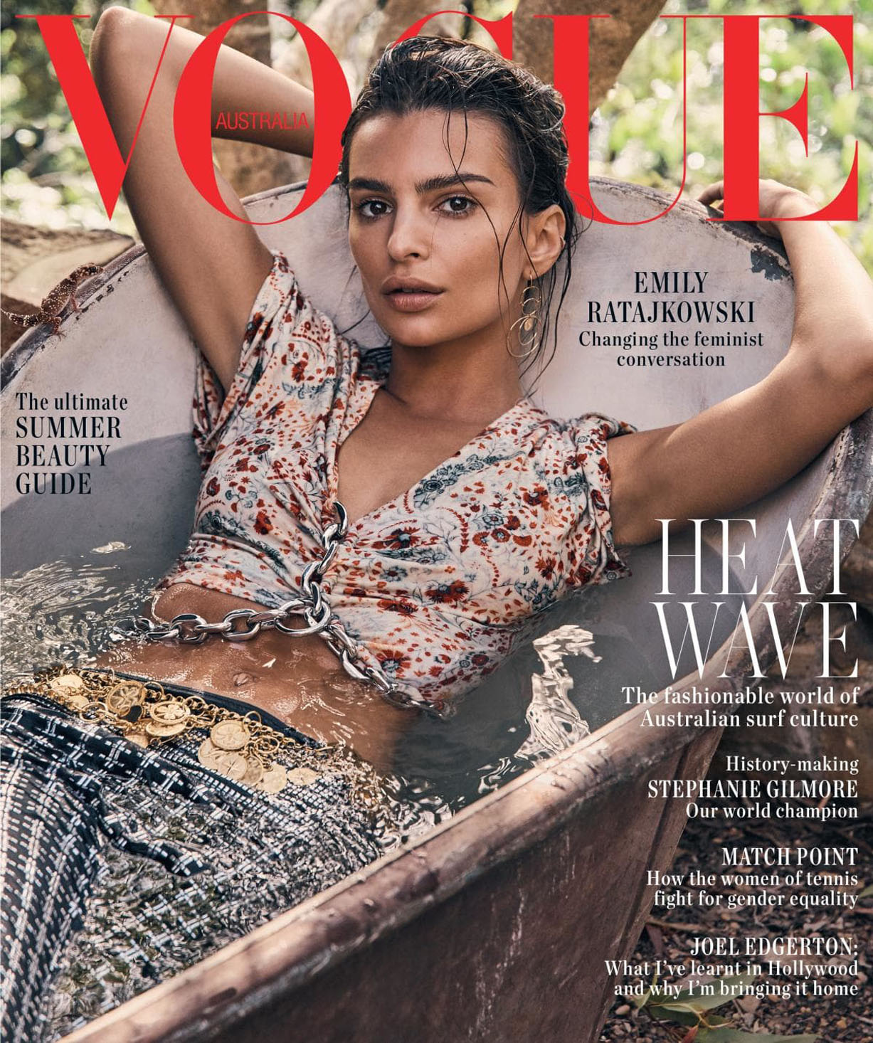 Emily Ratajkowski by Nicole Bentley / Vogue Australia january 2019