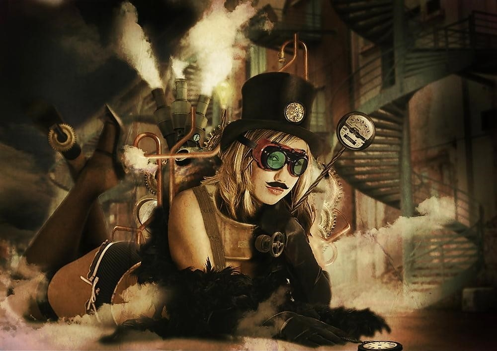Steampunk hats female-6120