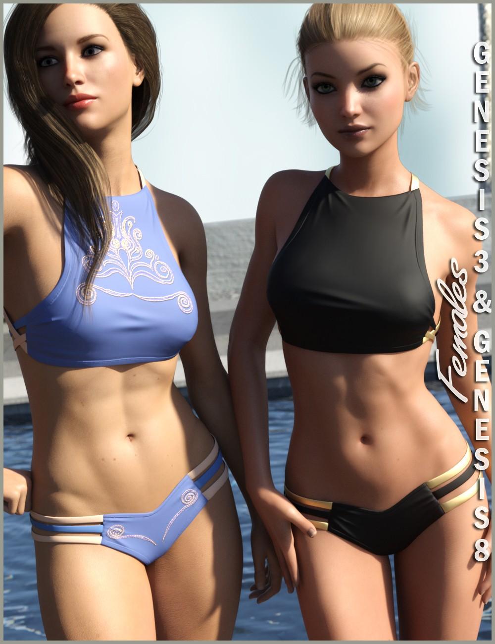 High Neck Bikini for Genesis 3 and