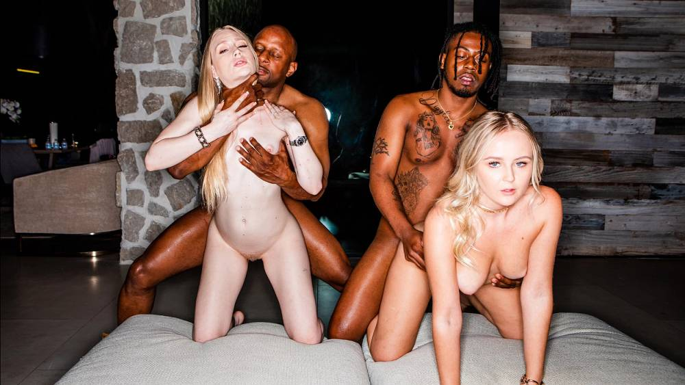 Natalia Queen, Emma Starletto, Prince Yahshua, Sly Diggler – Stay Awhile – Blacked Raw