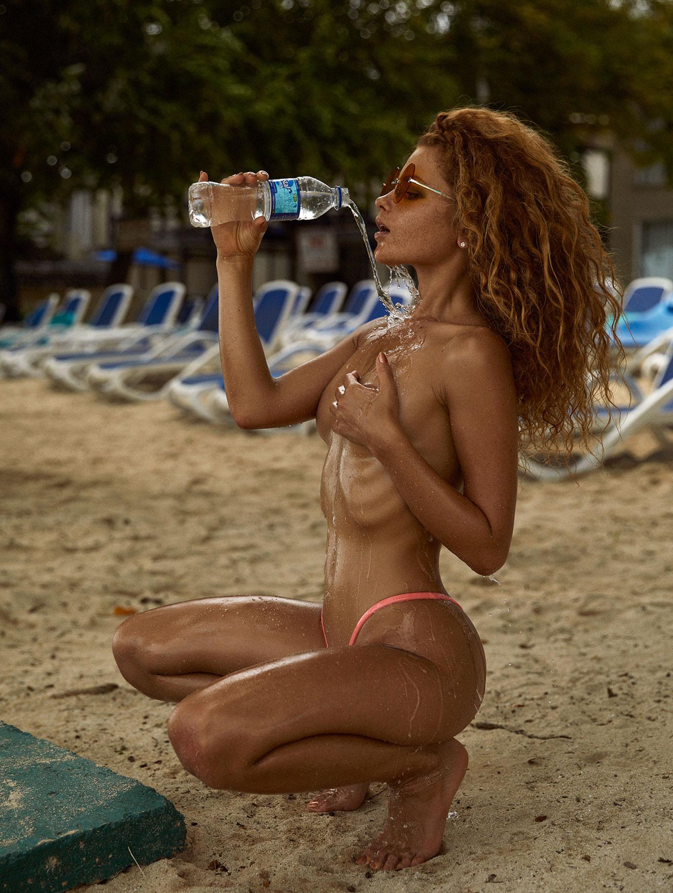 отдых на Карибских островах с красавицей Юлей Ярошенко / Julia Yaroshenko by Joakim Karlsson
