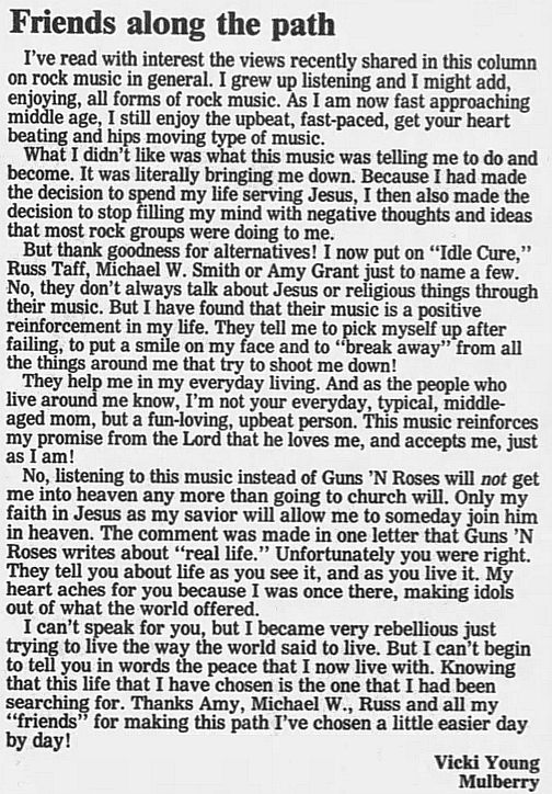 1989.02.21/04.10 - Journal and Courier (Lafayette, IN.) - Readers' letters/Debate on GN'R 2PnDQVoF_o