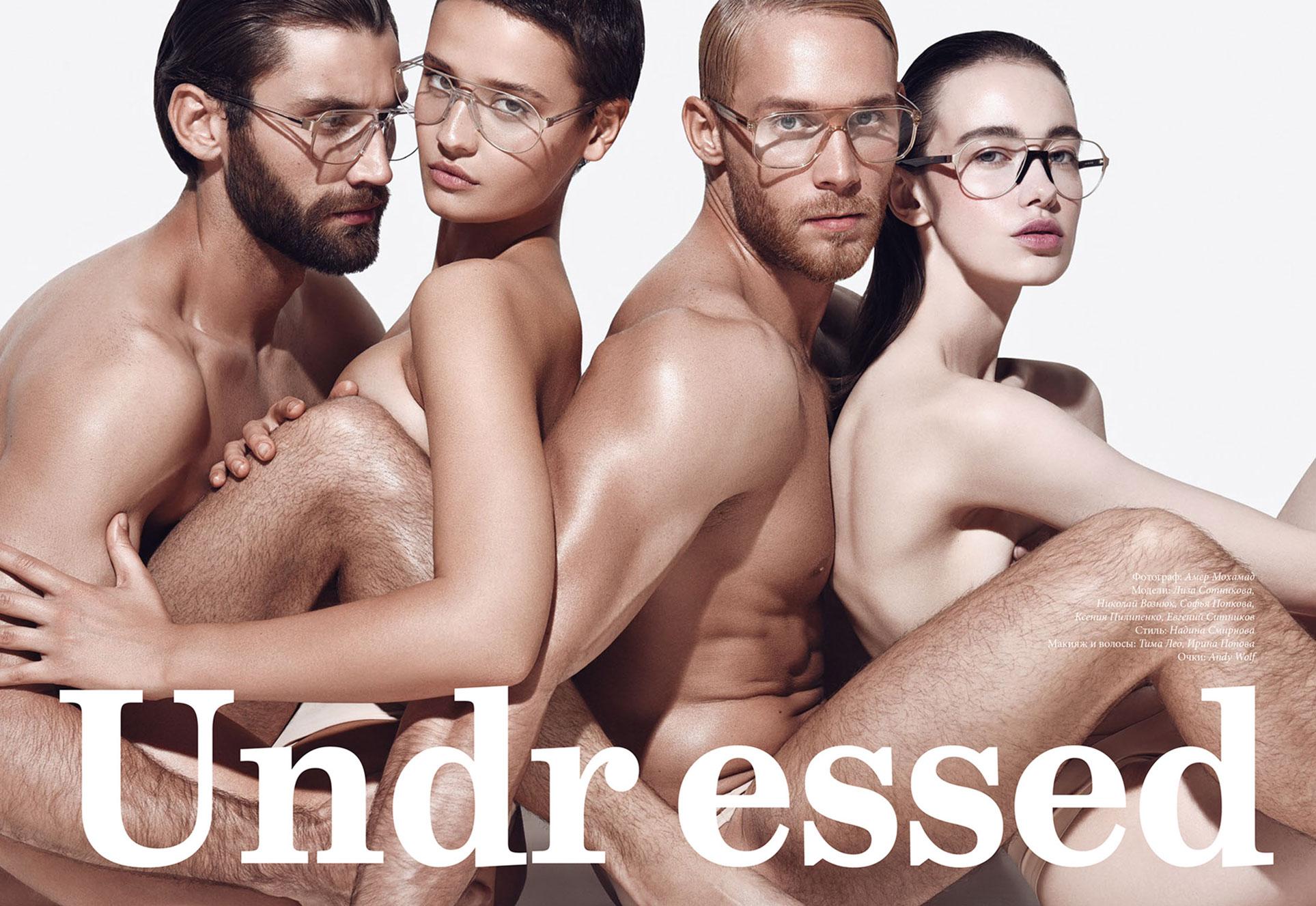 Голые девушки в очках / фото 08