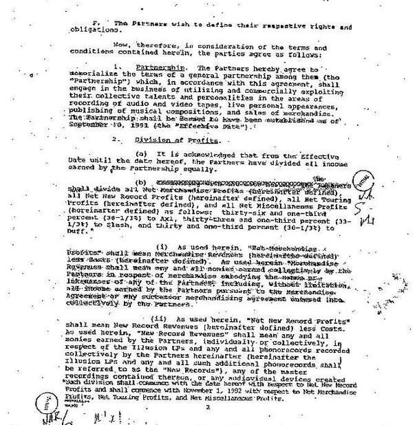 1992.10.DD - Guns N' Roses Partnership contract (Memorandum of Agreement) UHnvKhdl_o