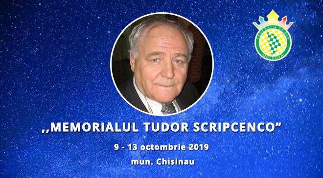 """,,MEMORIALUL TUDOR SCRIPCENCO – 2019"""""""
