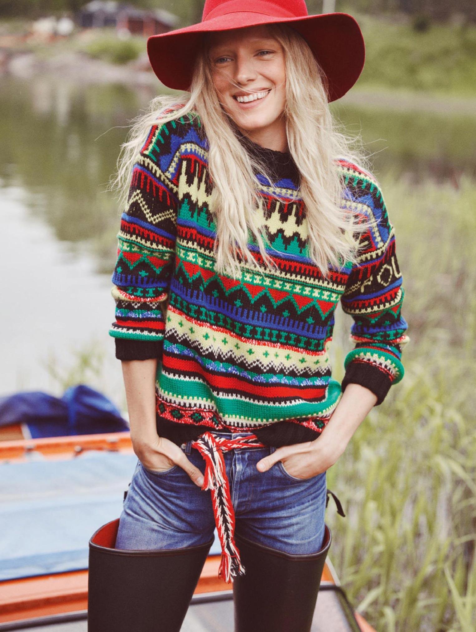 Бразильская модель в гостях у шведской - Эрика Линдер и Ракель Циммерман / фото 10