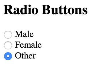radio button render