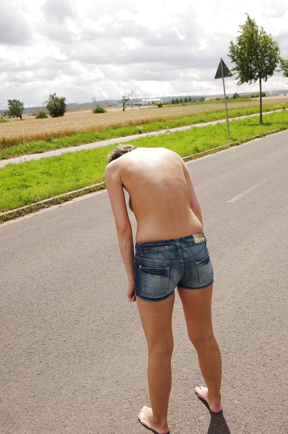 Naked girl with jeans-8571