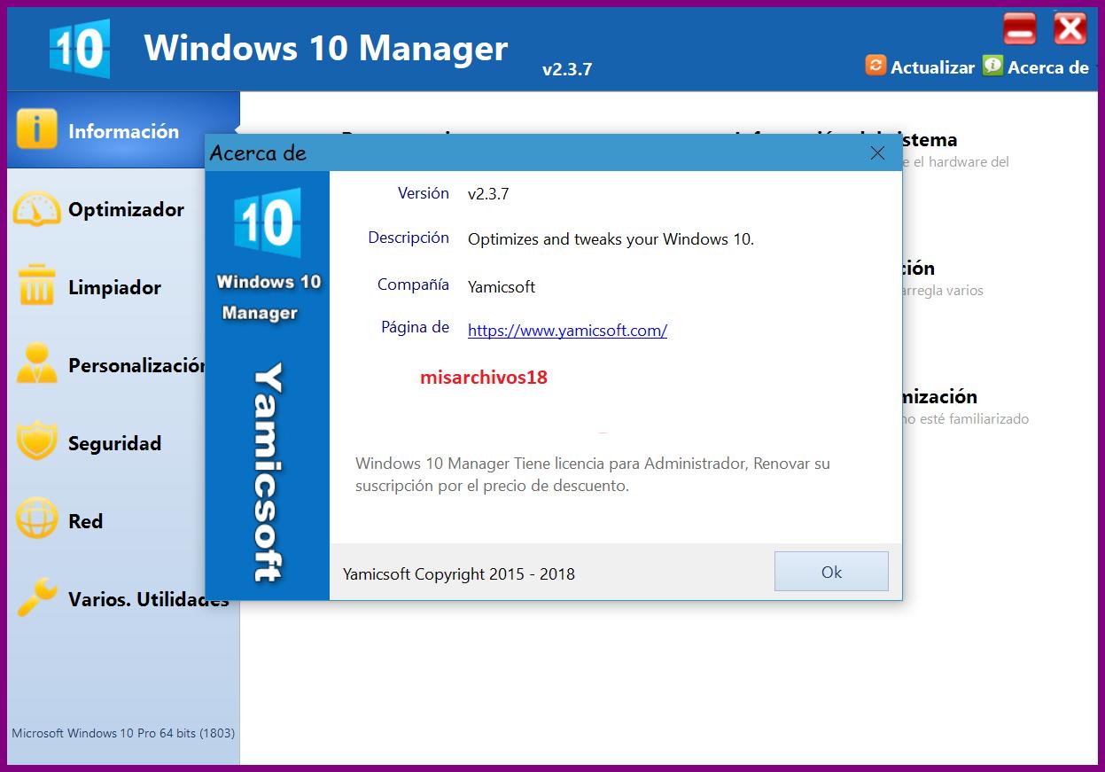 mWv0Xv0z o - Windows 10 Manager 2.3.7 [+Portable] [UL-NF]