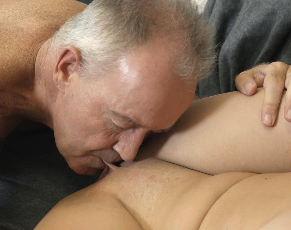 Boobs sucking old man-6156