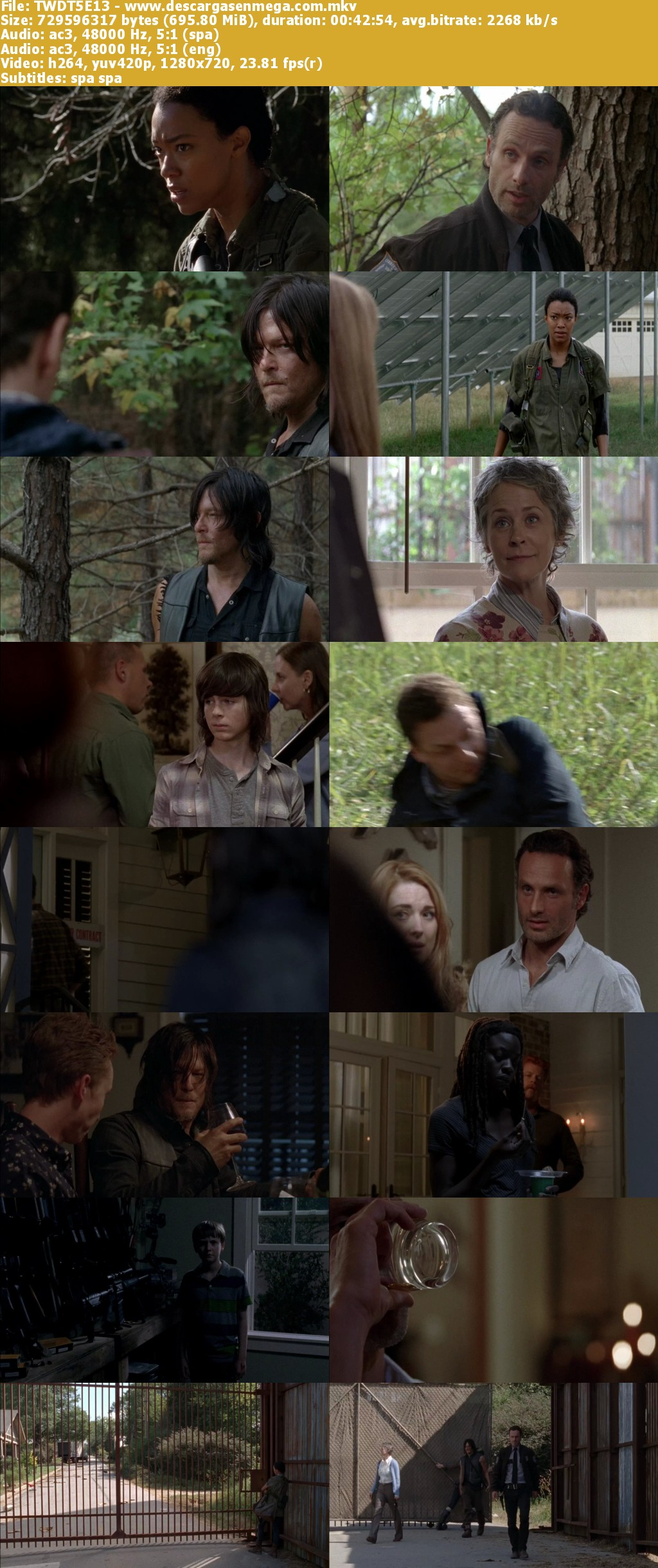 Capturas Walking Dead Temporada 5 Mega