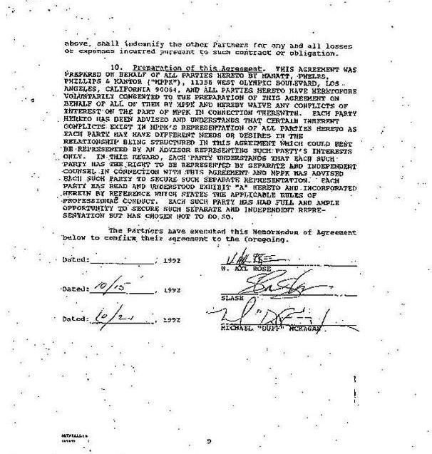 1992.10.DD - Guns N' Roses Partnership contract (Memorandum of Agreement) XKoEYBPP_o