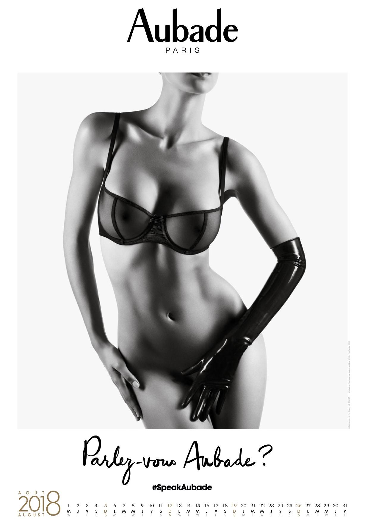 календарь сексуального нижнего белья Aubade 2018