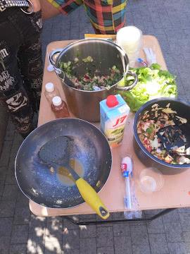Окрошка и салат