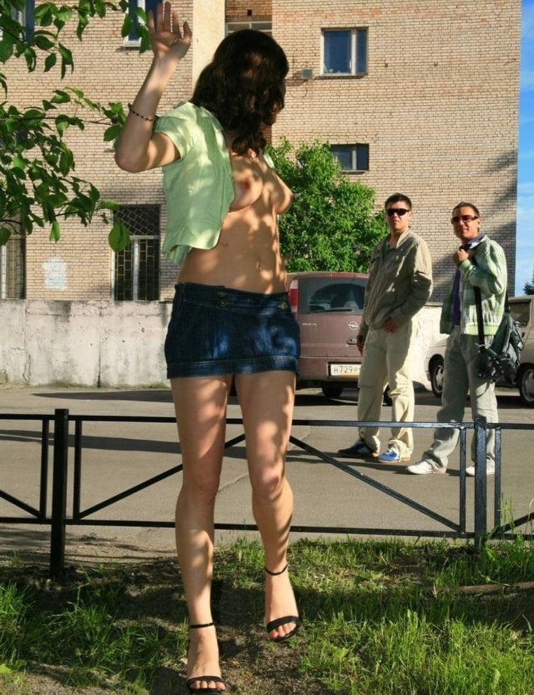 Fondling boobs in public-2641