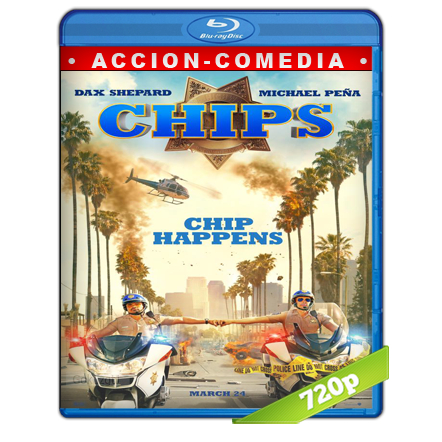 Chips Patrulla Motorizada Recargada (2017) BRRip 720p Audio Trial Latino-Castellano-Ingles 5.1