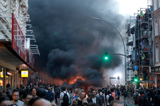 Дым над улицей