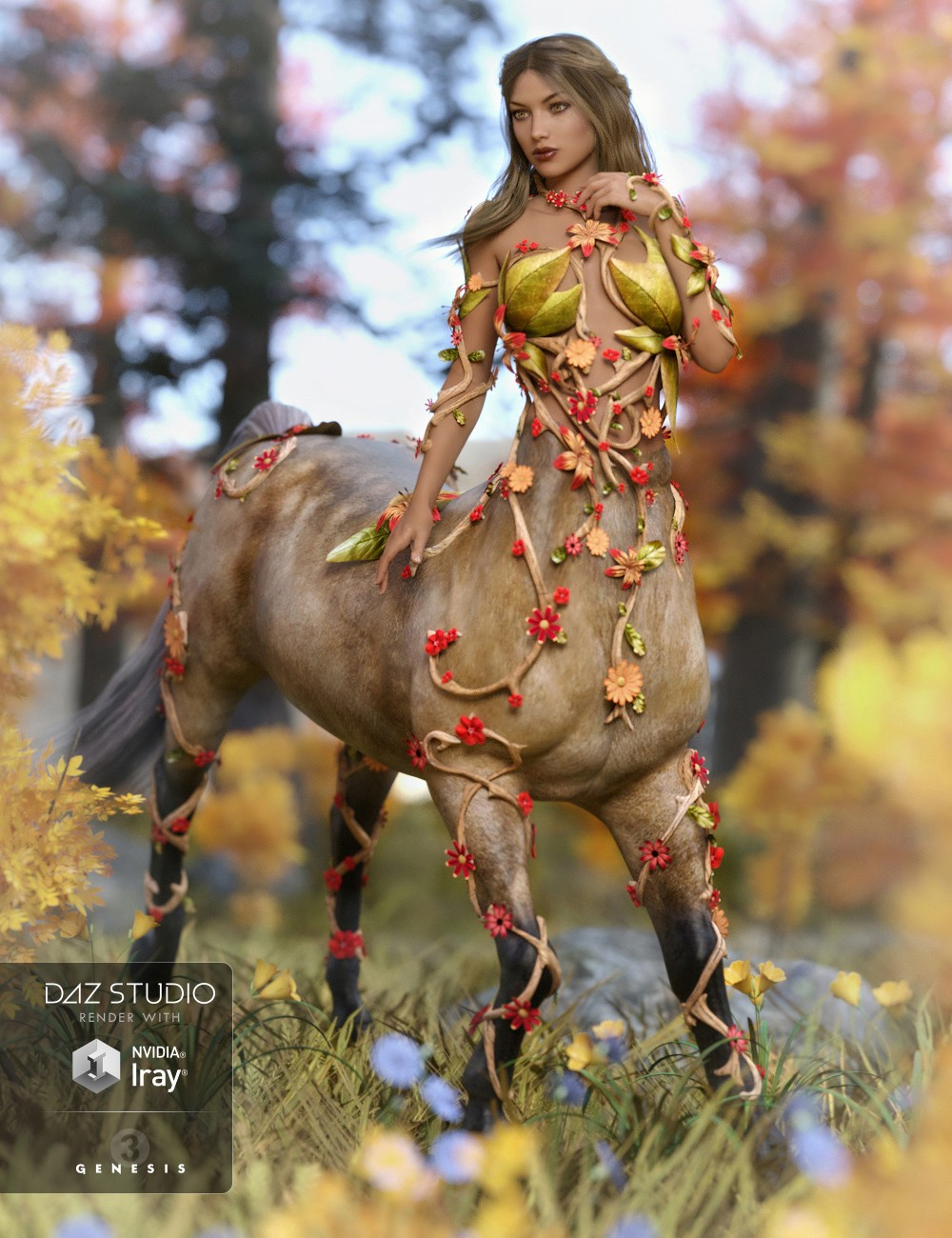 Forest Maiden Outfit for Centaur 7 Female