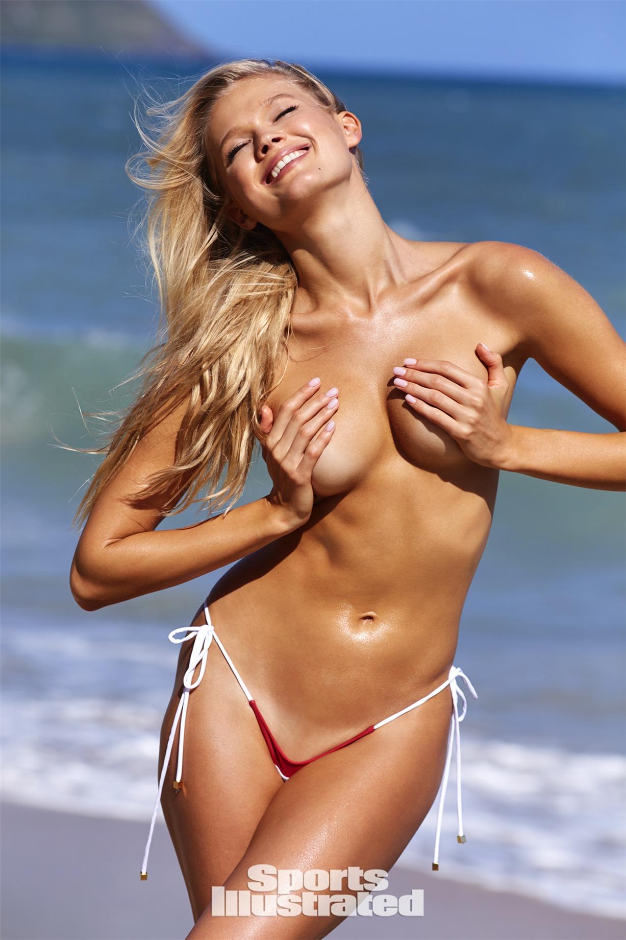 Vita Sidorkina / Вита Сидоркина в купальниках из новой коллекции Sports Illustrated Swimsuit 2018 issue / in Nevis by Josie Clough
