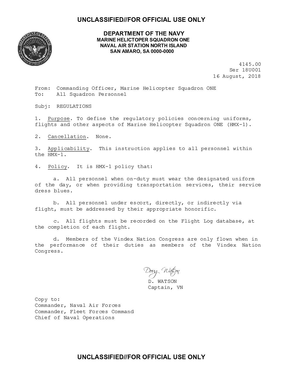 HMX 4145 00] Regulations