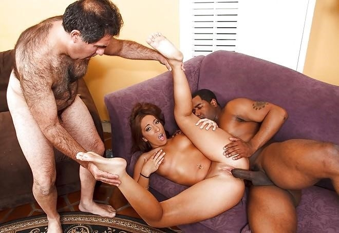 Husband watches wife interracial-6871