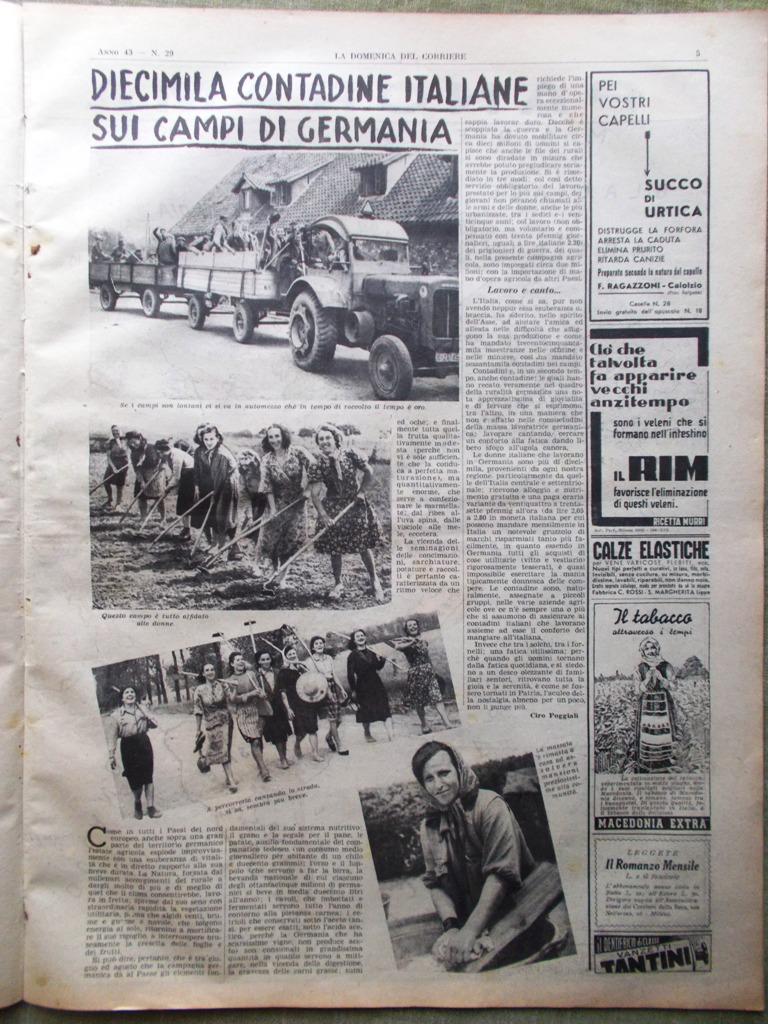 Calendario Contadine Italiane.Dettagli Su La Domenica Del Corriere 20 Luglio 1941 Ww2 Russia Contadine Ungheria Giustizia