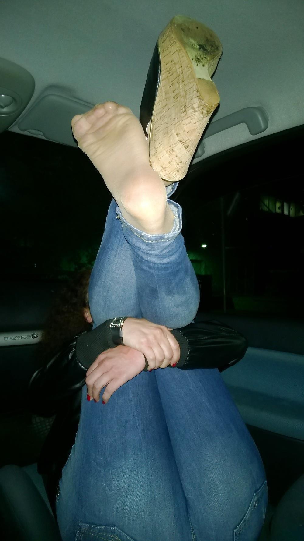 Lesbian foot fetish nylon-4219