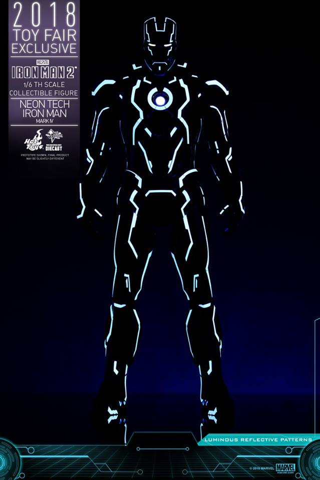 "Iron Man 2 - Mark IV Neon Tech ""Toy Flair Exclusive 2018"" 1/6 (Hot Toys) KCz2xcBM_o"