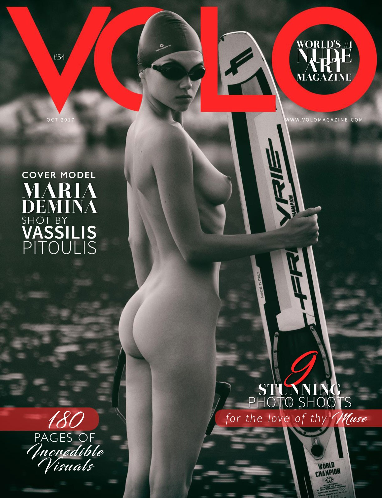 Maria Demina nude by Vassilis Pitoulis - Volo number 54 october 2017