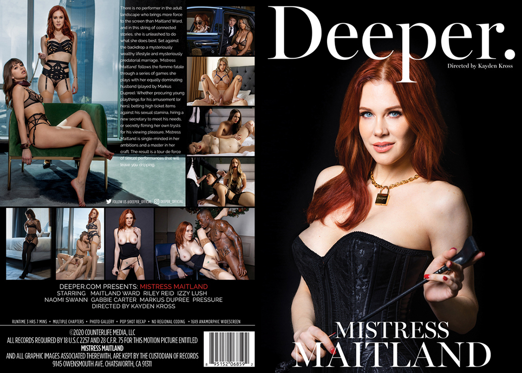 Mistress Maitland /Госпожа Maitland ( Kayden Kross, Deeper ) [2020 г., Vignettes All Sex Couples Hardcore Affairs & Love Triangles Anal, WEB-DL, 1080p] (Split Scenes)( Gabbie Carter, Naomi Swann, Izzy Lush, Riley Reid, Maitland Ward)